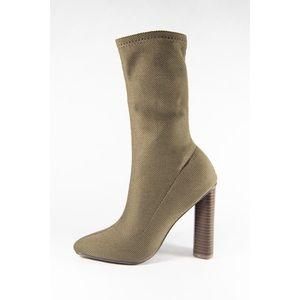 Shoes - 🆕Khaki Green Sock Booties